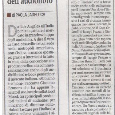 Da Los Angeles per conquistare il Made in Italy dell'audiolibro