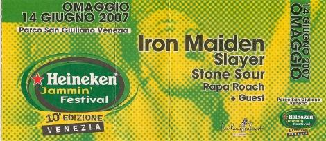 10 concerti memorabili degli Iron Maiden - Heinken Jammin Festival 2007
