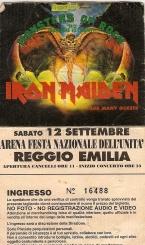 10 concerti memorabili degli Iron Maiden - Reggio Emilia 1992